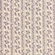 Moda - Jardin de Versailles, French General -5900 -  Striped Floral, Plum - 13813 19 - Cotton Fabric